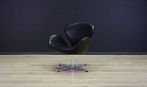 ARNE JACOBSEN THE SWAN ELEGANCE LEATHER RETRO