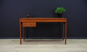 CLASSIC WRITING DESK TEAK DANISH DESIGN VINTAGE