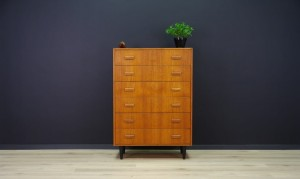 TEAK DANISH DESIGN CHEST OF DRAWERS RETRO VINTAGE