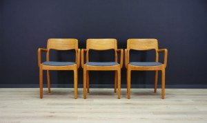 JUUL KRISTENSEN DINING CHAIRS DANISH DESIGN TEAK