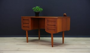 J SVENSTRUP RETRO TEAK WRITING DESK DANISH DESIGN